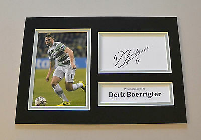 Derk Boerrigter Signed A4 Photo Celtic Autograph Display Memorabilia + COA