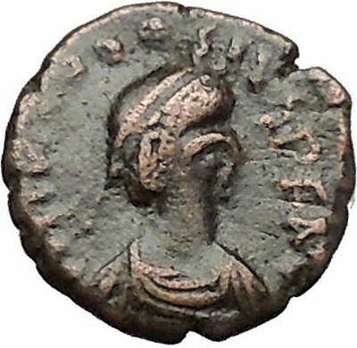 THEODOSIUS II 408AD Authentic Ancient Roman Coin Cross within wreath  i51007