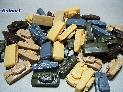 Axis & Allies Board Game Parts 50 Battle Tanks For  Uk Usa  Germany Ussr Japan