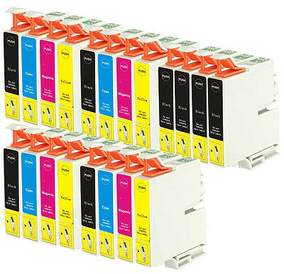 20 Ink Cartridges for Epson Printers - Stylus/ Workforce/ Expression Home Series