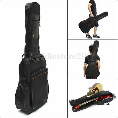 41'' Acoustic Guitar Gig Bag Soft Case Double Strap Padded Backpack Waterproof