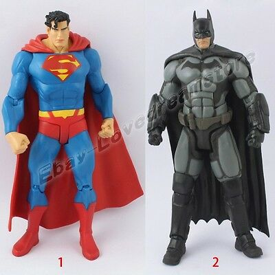 The Dark Knight Rises ARKHAM Batman/Superman 17cm-18cm PVC Action Figure Loose
