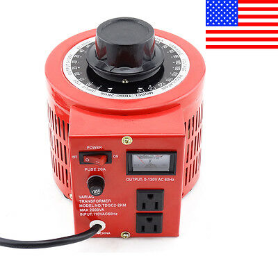 Variac Variable Transformer Powerstat AC Voltage Regulator 2000w 20Amp 110V Auto