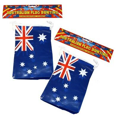 24ft AUSTRALIA AUSTRALIAN AUSSIE DAY PARTY DECORATIONS BUNTING FLAGS F30 585