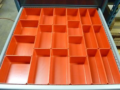 "65pc 3"" Deep Organizer Storage Bins Toolbox Tray  Dividers fit Lista & Vidmar"