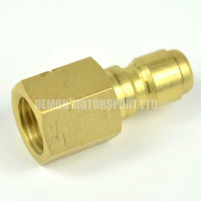Pressure Washer Jet Wash 1//4 female to 3//8 male Brass Coupling Joiner