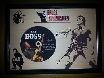 BRUCE SPRINGSTEEN Memorabilia CD Quote frame with gold background,The Boss,Music