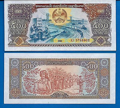 Laos P-31 500 Kip Year 1988 Uncirculated Banknote Asia