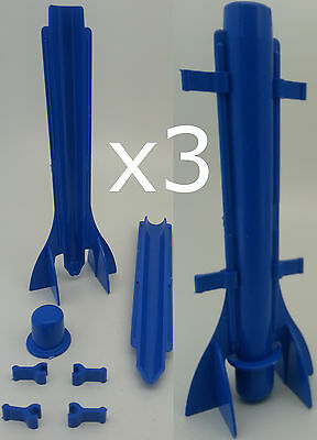 3 x Long tapered plastic candle mould. Easy candle extraction.