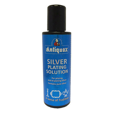 Antiquax Silver Plating Solution 100ml Adds Pure Silver to your Worn Silver Item