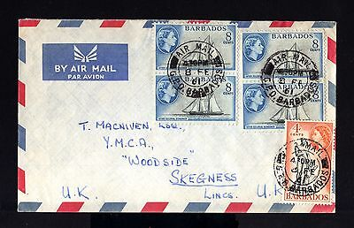7742-BARBADOS-AIRMAIL COVER BRIDGETOWN to SKEGNESS (england)1961.British.AERIEN.