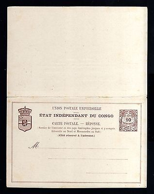7807-CONGO-OLD UNUSED POSTCARD ETAT INDEPENDANT DU CONGO.5 Cts.UPU.Carte postal