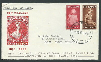 1952 New Zealand Fdc Stamp Exhibition No Timbro Arrivo - V