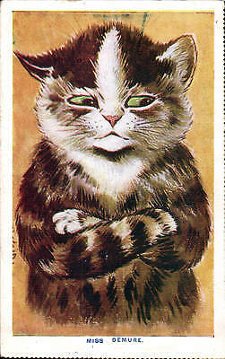 Louis Wain Cat. Miss Demure by Faulkner. Unsigned.
