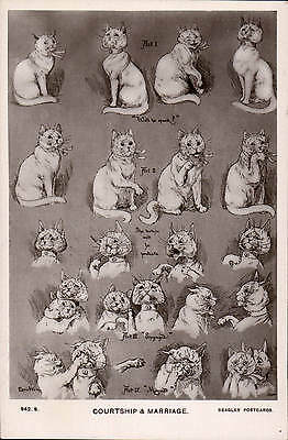 Louis Wain Cats. Courtship & Marriage # 942 S by J. Beagles.