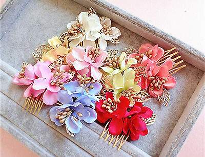 1Piece Women Girl Dance Wedding Bride Fairy Flower hair Comb Pin photograph PROP