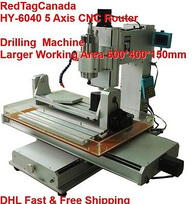 HY-6040 DIY 5 Axis 2200W CNC Router Drilling Factory Direct - DHL - 2YRS WRRANTY