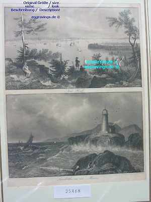 25468-Amerika-USA-United States-NEW YORK-MAINE-Stahlstich-Steel engraving-1846