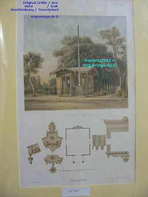 26741-Berlin-Chausee Haus bei Charlottenburg-Lithographie-Lithography-1859