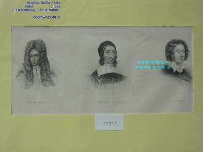 31717-Porträts-Portraits-BOYLE-BAXTER-PURCELL-Stahlstich-Steel engraving-1850