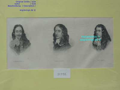 31730-Porträts-Portraits-CHARLES I-SELDEN-BLAKE-Stahlstich-Steel engraving-1850