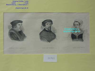 31722-Porträts-Portraits-CROMWELL-EARL SURREY-GREY-Stahlstich-Steel engraving