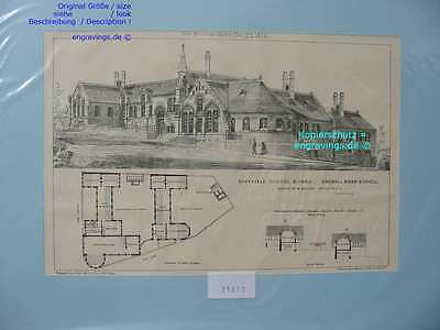 31651-Architektur-Architecture-SHEFFIELD-DARNALL ROAD-Lithographie-Lithography
