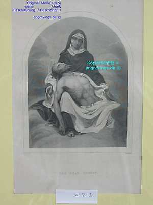 41713-Bibel-Bible-JESUS-CHRIST-Madonna-Stahlstich-Steel engraving-1860