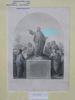 41703-Bibel-Bible-JESUS-CHRIST-Sermon-Stahlstich-Steel engraving-1860