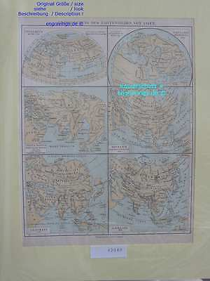 42049-Asien-Asia-LANDKARTE-KARTE-MAP-Lithographie-Lithography-1890