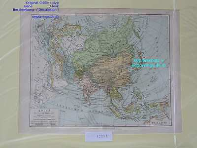 42053-Asien-Asia-LANDKARTE-KARTE-MAP-Lithographie-Lithography-1890