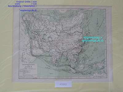 42052-Asien-Asia-LANDKARTE-KARTE-MAP-Lithographie-Lithography-1890