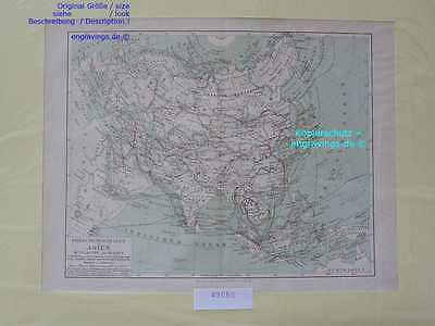 42050-Asien-Asia-LANDKARTE-KARTE-MAP-Lithographie-Lithography-1890