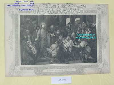 42526-Bibel-Bible-JESUS-CHRIST-CHRISTI-Stahlstich-Steel engraving-1860