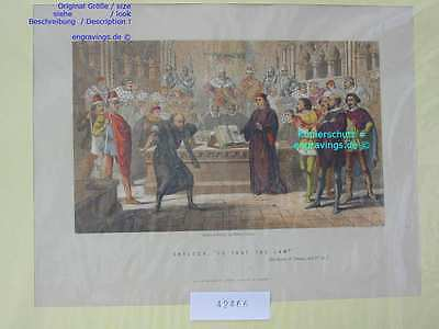 42466-Gericht-Juristen-Judge-Law-ENGLAND-Lithographie-Lithography-1880