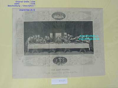 42521-Bibel-Bible-LAST SUPPER-27x17 cm-Stahlstich-Steel engraving-1860