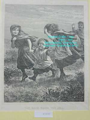 45849-Kinder-Children-THE RACE DOWN THE HILL-H-1860