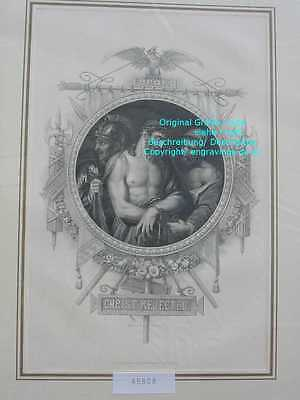 45808-Bibel-Bible-Jesus-CHRIST-ECCE HOMO-Stahlstich-Steel engraving-1865