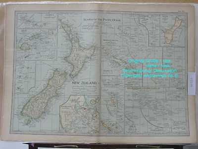 46326-NEW ZEALAND-NEUSEELAND-FIJI-etc-MAP-KARTE-Lithographie-Lithography-1902