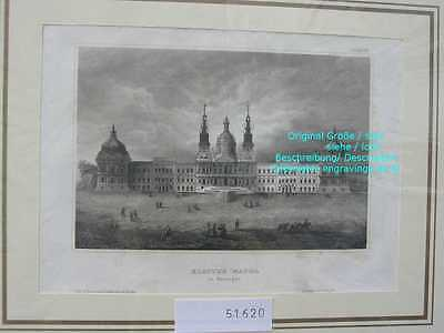 51620-Portugal-Portuguesa-Kloster Mafra-Stahlstich-Steel engraving-1860