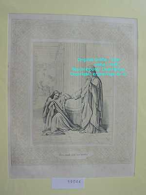 59044-Bibel-Bible-Jesus-Christ-Woman-Frau-Ornament-Stahlstich-Steel engraving