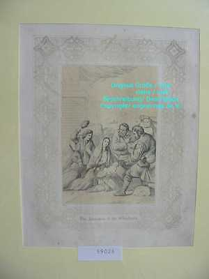 59026-Bibel-Bible-Madonna-Shepherds-Schäfe-Ornament-Stahlstich-Steel engraving