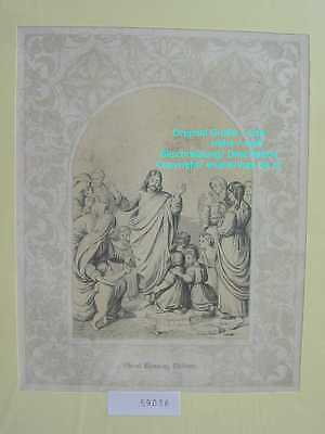 59036-Bibel-Bible-Jesus-Christ-blessing -Ornament-Stahlstich-Steel engraving