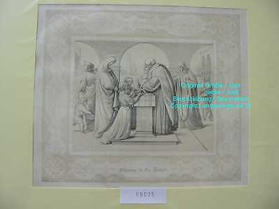 59025-Bibel-Bible-Madonna-Tempel-Temple-mit Ornament-Stahlstich-Steel engraving