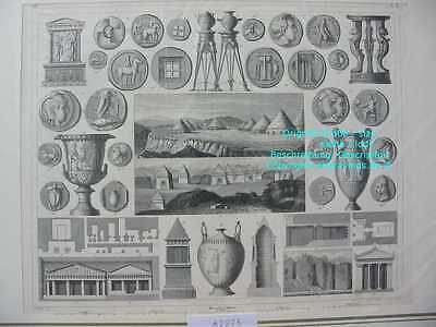 62275-Italien-ETRUSCAN-Etrusker-Tomb Assos Urns Tombs-Stahlstich-Steel engraving