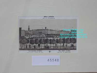 65548-Hamburg-Alster Arkaden-Lithographie-Lithography-1880