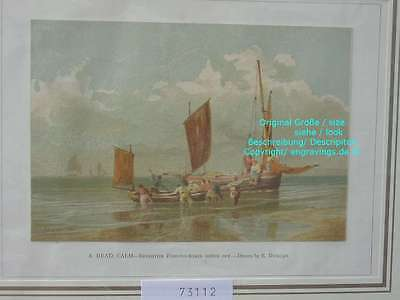 73112-Seefahrt-Schiffe-Ship-Marine-Brighton Fishing-Lithographie-Lithography