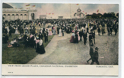 Grand Plaza Crowd Canadian National Exhibition Toronto Canada postcard