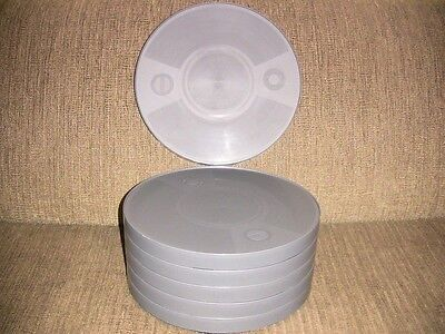 SIX- 1200ft 16mm Plastic CANS - NEW ARCHIVAL