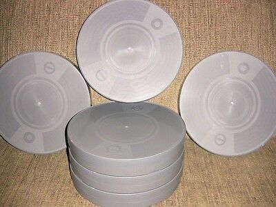 SIX- 800ft--1000ft 35mm Plastic CANS - NEW ARCHIVAL